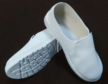 SPU Sole Bahan Anti Static Safety Shoes, White Canvas Esd Safety Toe Shoes